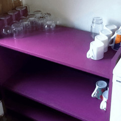 DIY kitty storage cupboard