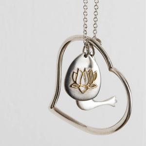 Mosami Faith, Hope, Love Eco-silver Charm Necklace