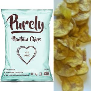Purely, Wild Garlic Plantain Chips