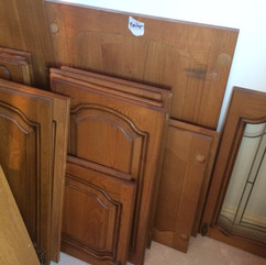 Solid oak cabinets for £40... JOG ON!!