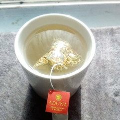 Review: Aduna lemon, ginger & boabab tea