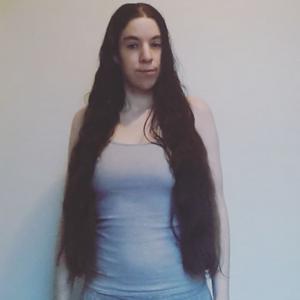 Minifoxychicky, long hair