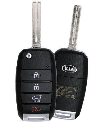 KIA Keyless Entry Flip Remote & Key 4/B TQ8-RKE-4F19