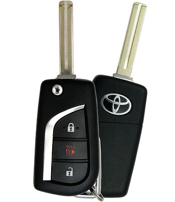 Toyota Laser Flip Style Remote & Key 3/B GQ4-73T