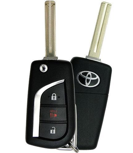 Toyota Laser Flip Style Remote & Key 3/B MOZB97TZ