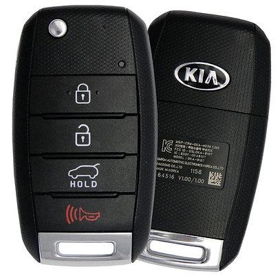 KIA Keyless Entry Flip Remote & Key 4/B OSLOKA-910T