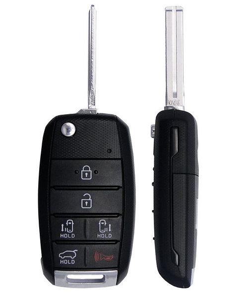 KIA Keyless Entry Flip Remote & Key 6/B TQ8-RKE-4F21