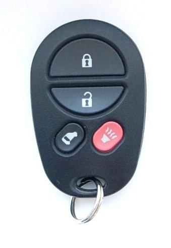 Toyota Keyless Entry Key Fob 4/B GQ43VT20T w/Slide Door