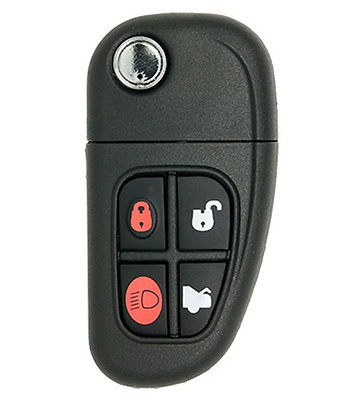 Jaguar Keyless Entry Flip Remote & Key 4/B (NHVWB1U241)