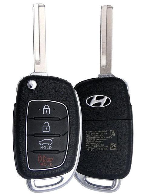 Hyundai Keyless Entry Flip Key 4/B (TQ8-RKE-4F31)