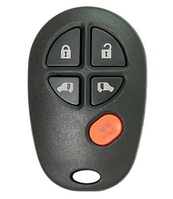 Toyota Keyless Entry Key Fob 5/B GQ43VT20T w/2 Power Slide Doors