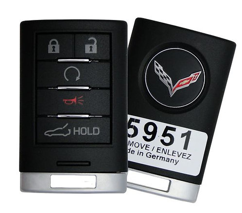 Corvette Keyless Entry Key Fob 4/B (Trunk & Remote Start)