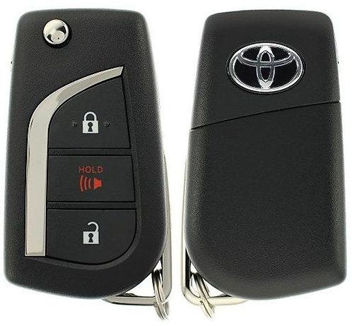 Toyota Laser Remote & Key Flip Style 3/B HYQ12BFB