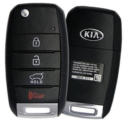 KIA Keyless Entry Flip Remote & Key 4/B NYODD4TX1306-TFL w/Hatch