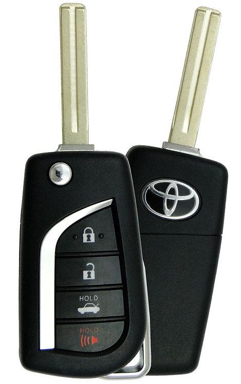 Toyota Laser Remote & Key Flip Style 4/B HYQ12BFB