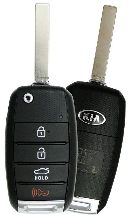 KIA Keyless Entry Flip Remote & Key 4/B NYOSYEC4TX1611
