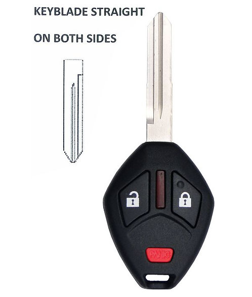 Mitsubishi Remote & Key 3/B OUCG8D-620M-A (Straight Blade)