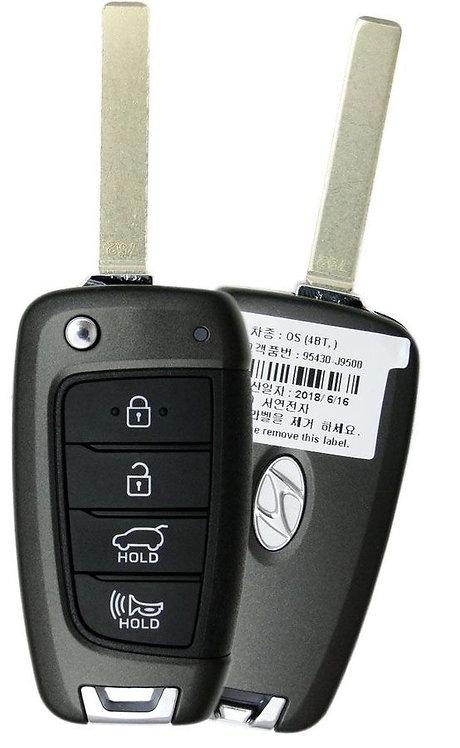 Hyundai Keyless Entry Flip Key 4/B (TQ8RKE4F39)
