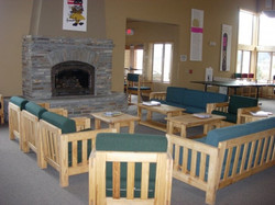Community Room with Fireplace