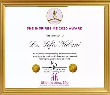 She inspires me award