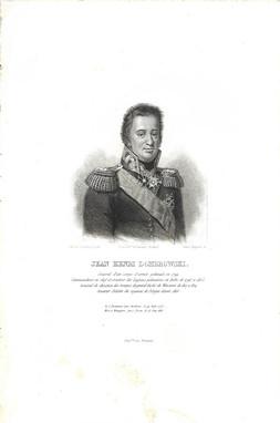 """Jan Henryk Dąbrowski. Grafika z pracy """"La Pologne"""" Leonarda Chodźki, 1844–1845. Zbiory rodziny Chłapowskich"""