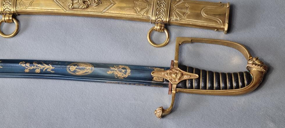 Huzarska kawaleryjska oficerska szabla przybocznej gwardii Napoleona