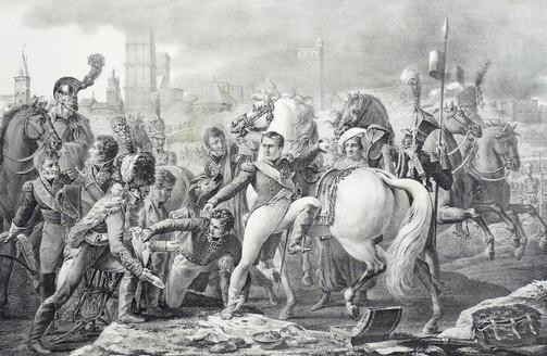 Zranienie Napoleona pod Ratyzboną