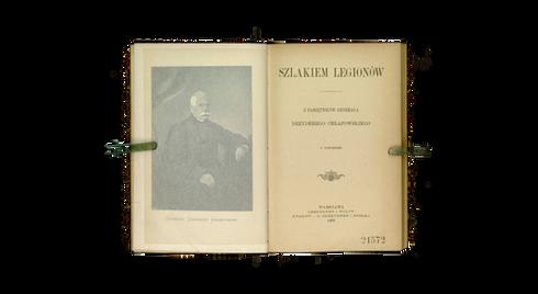 """Strona tytułowa """"Szlakiem Legionów"""" Dezyderego Chłapowskiego z 1903 r."""