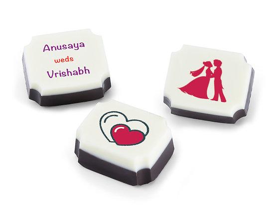 Personalised Wedding Invitation Chocolates