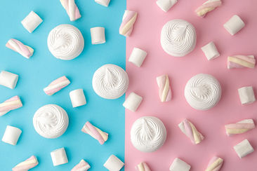 background-sweet-white-marshmallows-pink