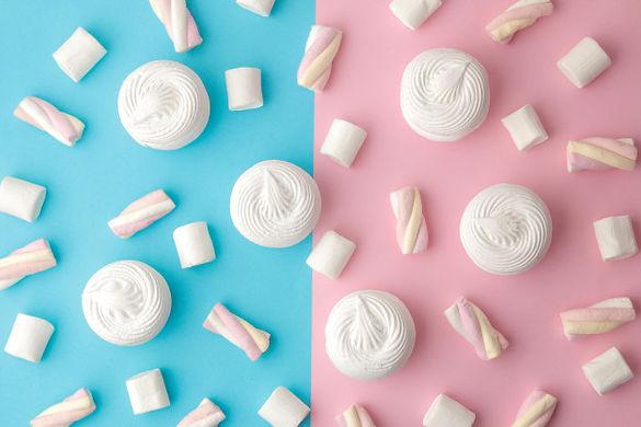 background-sweet-white-marshmallows-pink