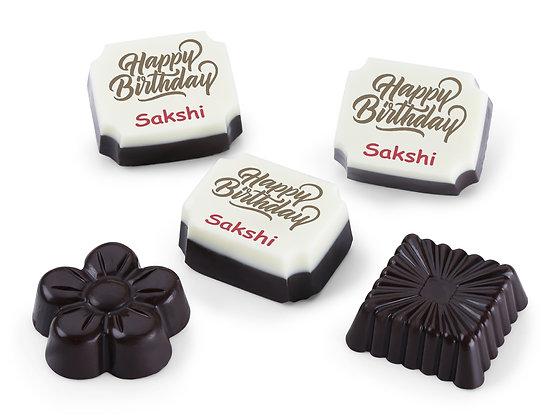 Personalised Birthday Gift Design Chocolates