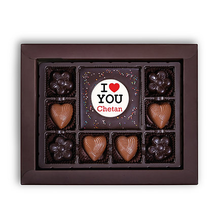 Valentine's Day Gift - I Love You Design - Chocolate Bar