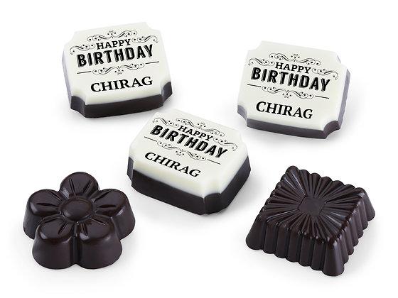 Personalised Birthday Gift Crown Design Chocolates