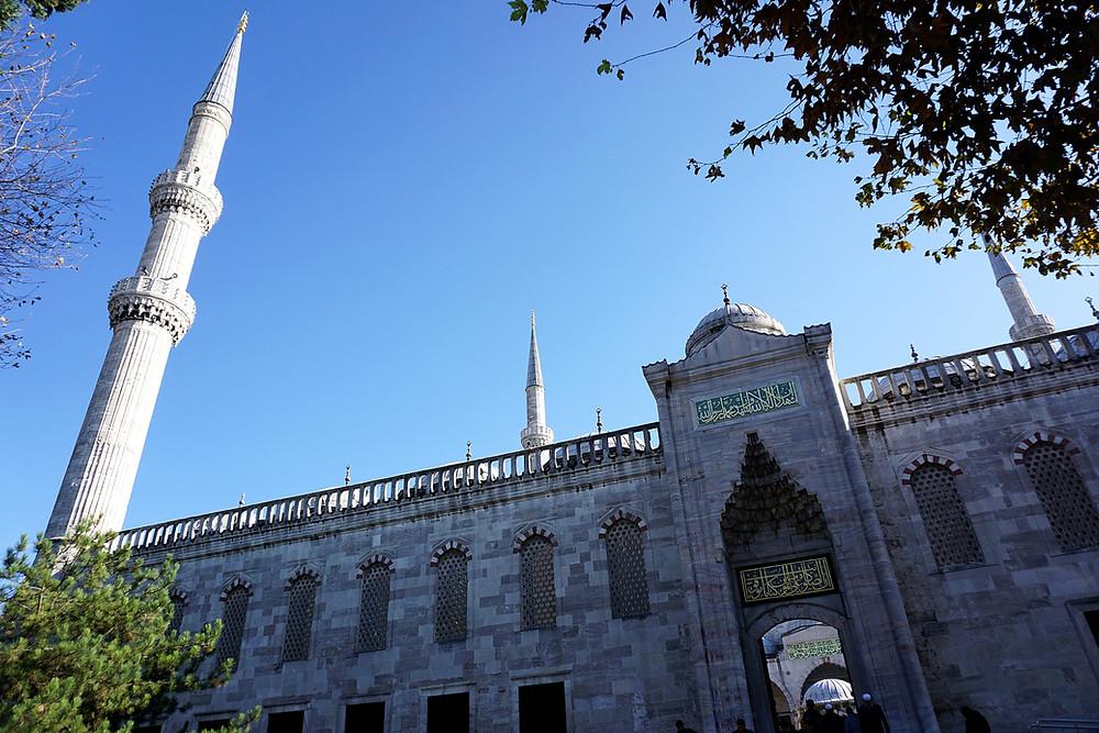 Ready to enter into Blue Mosque.