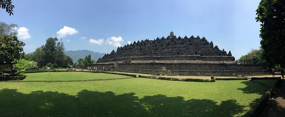 Panoramic view of Borobudur temple