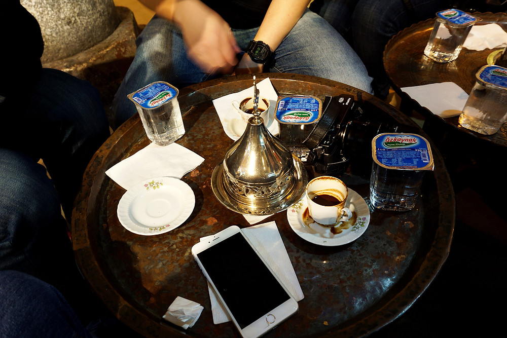 Trial of Turkish coffee, not really suit me.