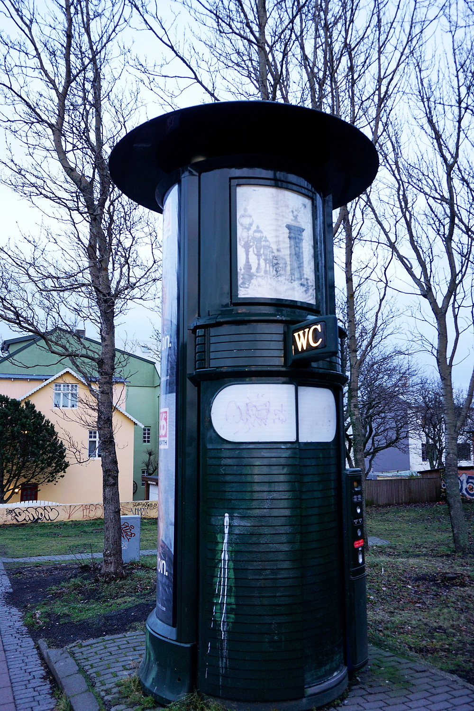 Public toilet in the city.