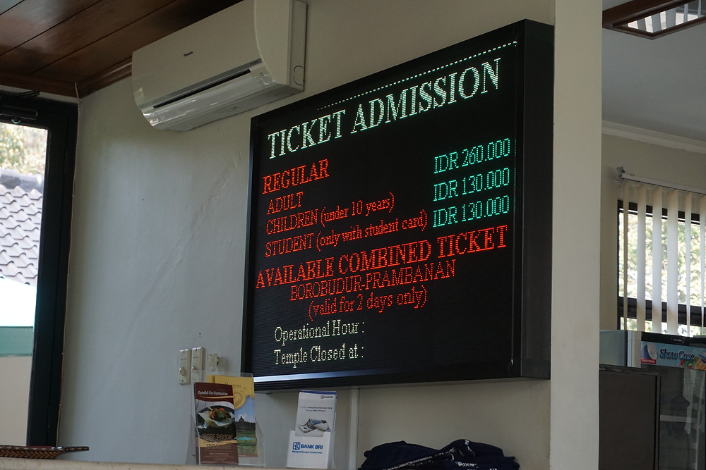 Ticket counter for foreigner