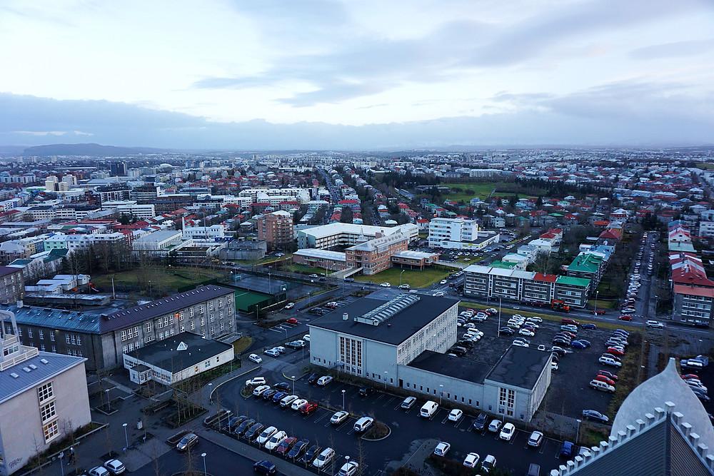 360 view of Reykjavik.