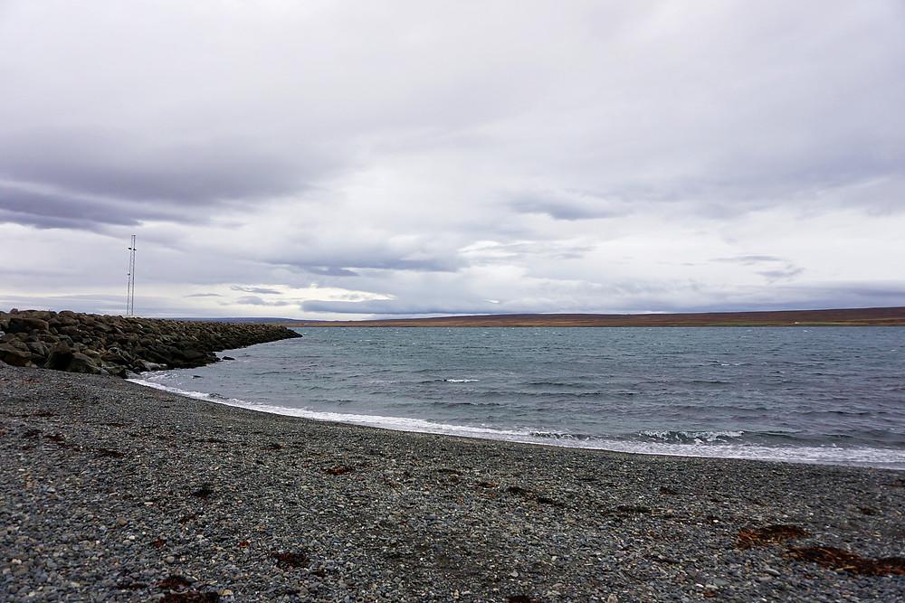 Seaside of Hvammstangi village.