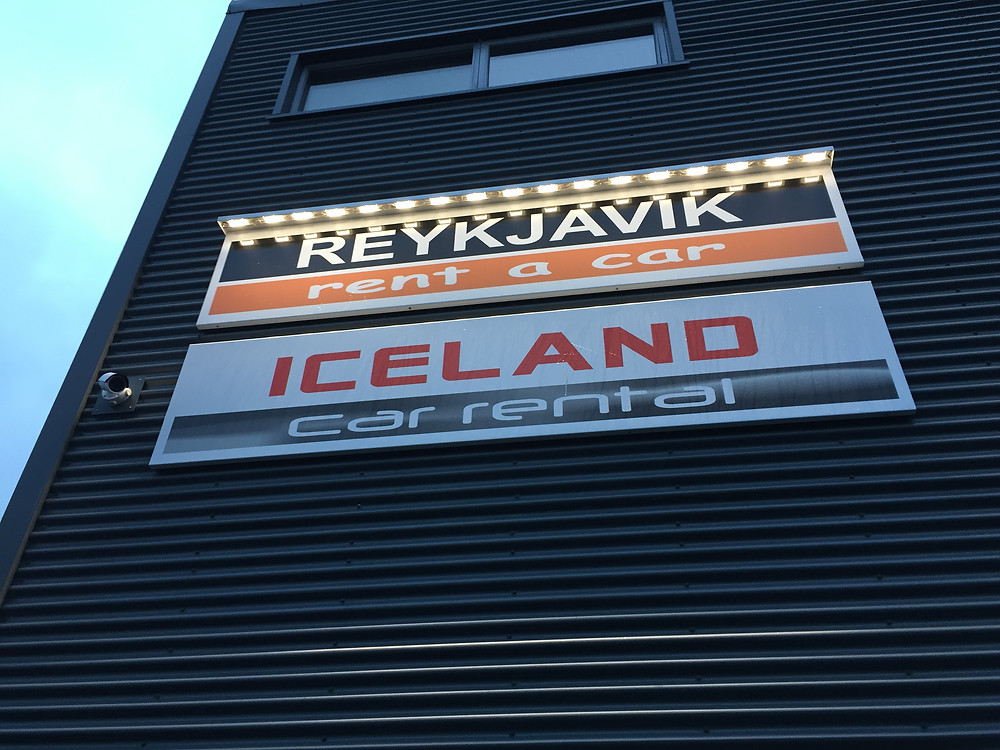 Our car rental company, Iceland Car Rental.