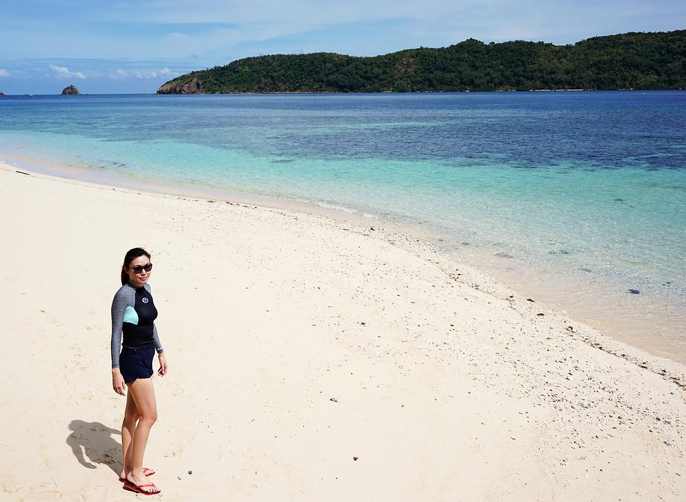 Posing on the beautiful beach.
