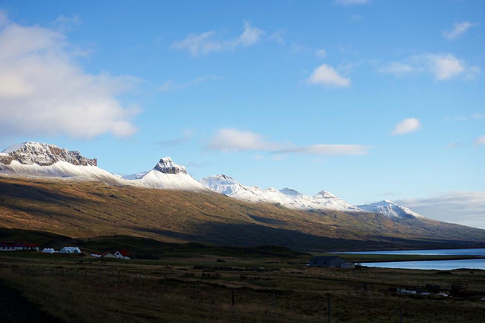 Last peek of Berufjörður scenic.