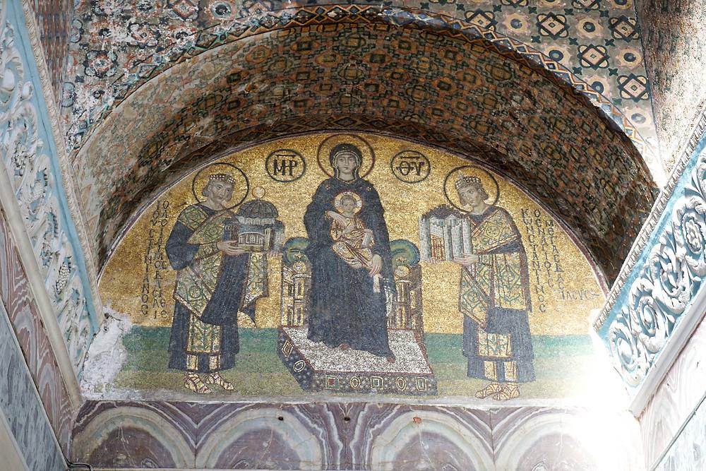 Southwestern entrance mosaic.