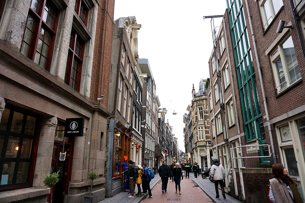 Street area that we are able to encounter few trademark window of red-light district.