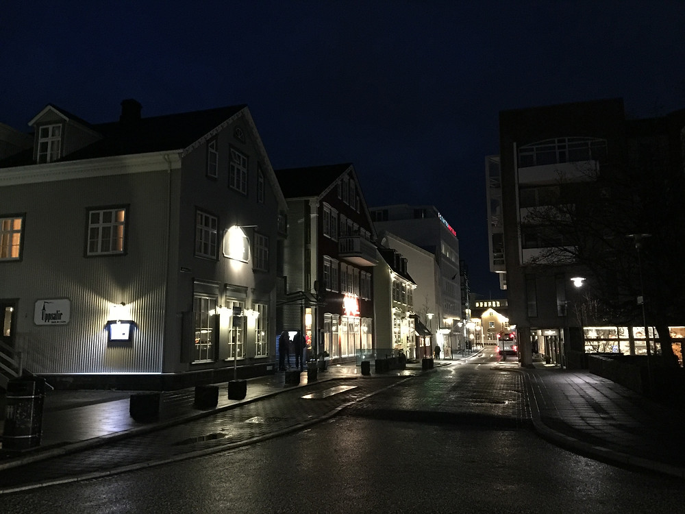 Love the quiet but bright street here in Reykjavik.