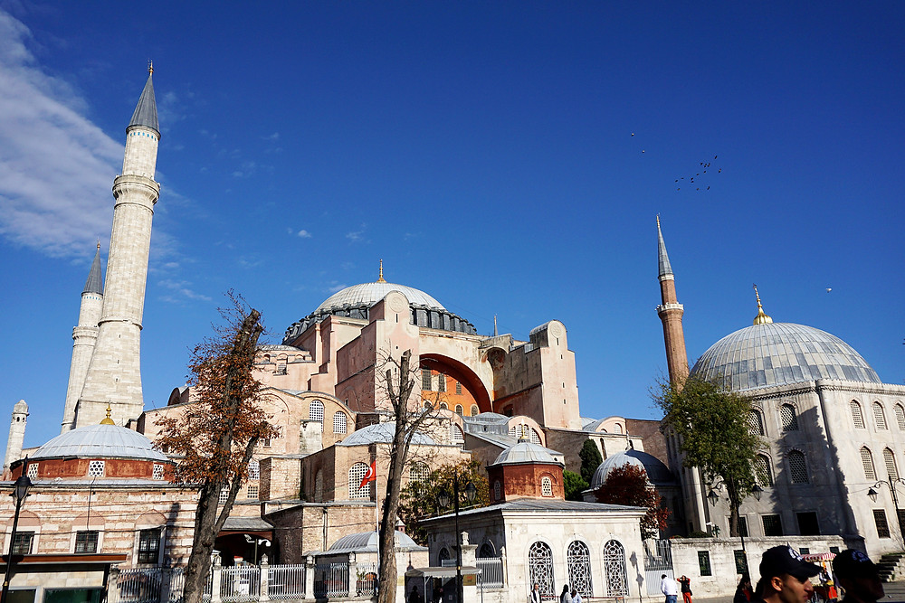 Exterior of Hagia Sophia.