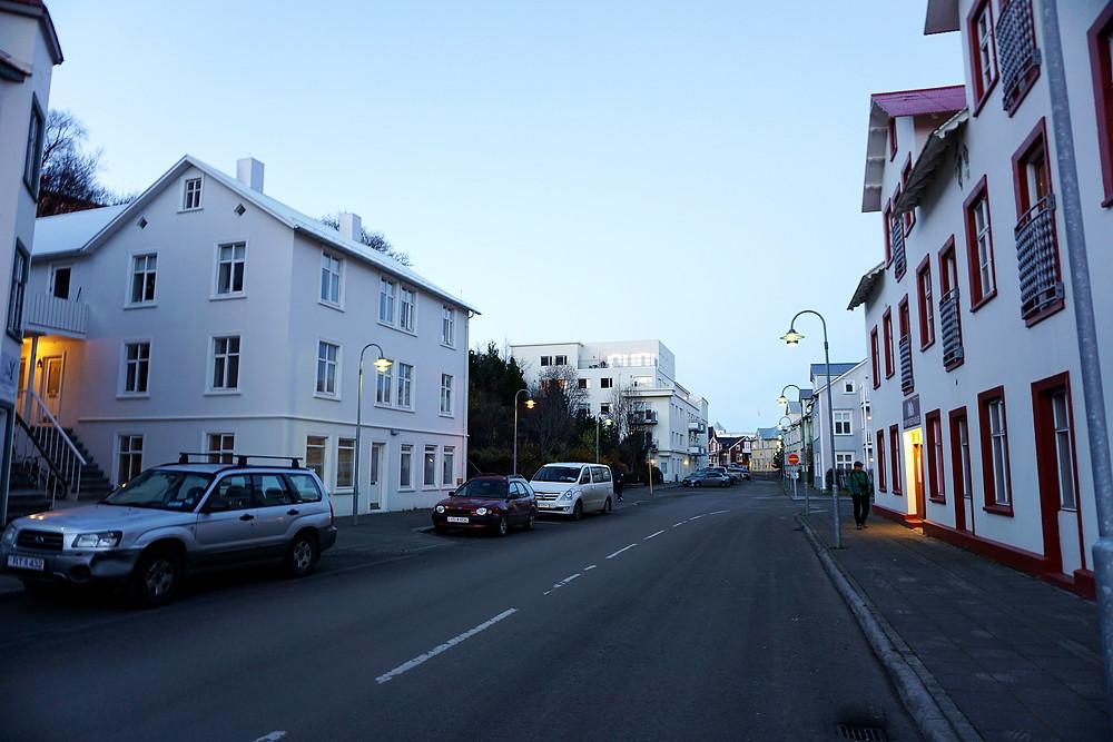 Street of Akureyri.