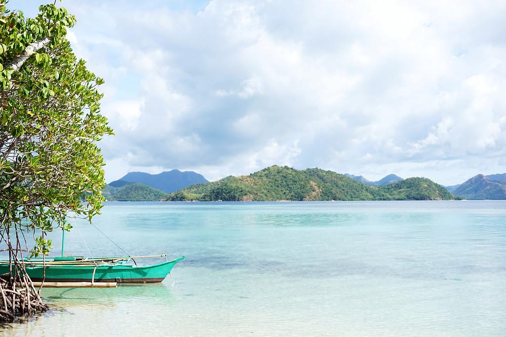 View of Lawi island from Jatoy island.